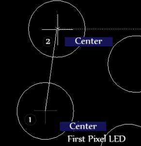 Connecting pixel LEDS in AutoCAD
