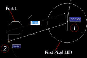 Connecting pixel LED to the port