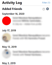 Facebook date when you add someone as friend