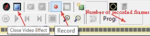 LEDEdit recording controls