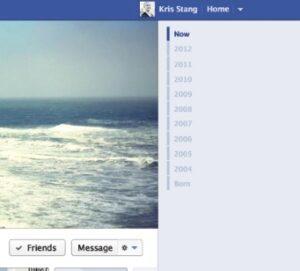 Old Facebook time line