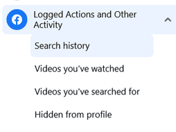 Search history location in new Facebook