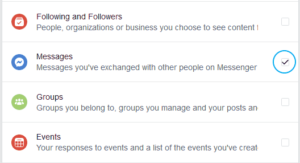How go to the beginning of Facebook conversation - Check & Select Messages