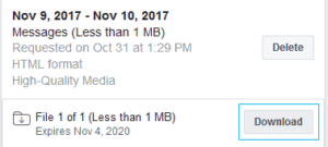 Facebook select your download
