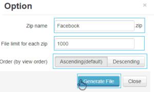 Download Facebook album as zip file