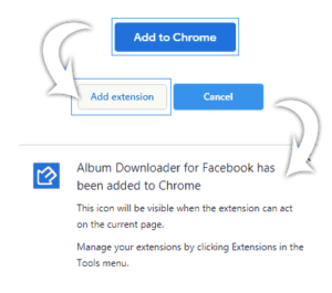 How to install Album downloader for facebook