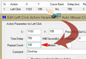 automated clicking repeat amount